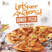 Lekker en Anders Döner Pizza voorkant