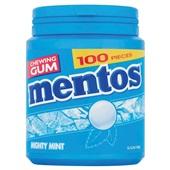 Mentos kauwgom Gum Mighty Mint, Pot 100 Gums voorkant