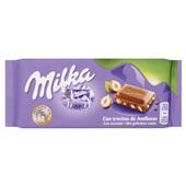 Milka Chocolade Tablet Gebroken Noot voorkant