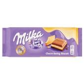 Milka chocoladereep  choco biscuit  voorkant