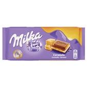 Milka Tablet Caramel voorkant