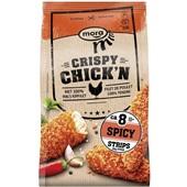 Mora crispy chick'n strips spicy voorkant