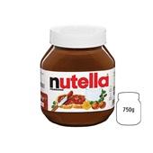 Nutella hazelnootpasta voorkant