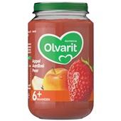Olvarit baby/peuter fruithapje appel, aardbei en peer voorkant