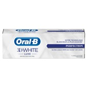 Oral B tandpasta  3D white luxe perfection voorkant