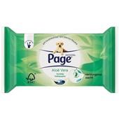 Page vochtig toiletpapier aloë vera navulverpakking voorkant