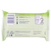Page vochtig toiletpapier aloë vera navulverpakking achterkant