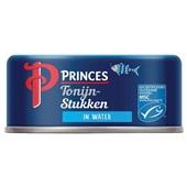 Princes tonijnstukken  in water voorkant