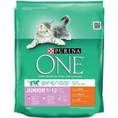Purina ONE Kattenvoer Junior Rijk Aan Kip En Granen voorkant
