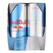 Red Bull Energiedrank Sugar Free 4X25CL achterkant