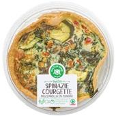Spar Ambachtelijke quiche Spinazie, kaas, courgette en paprika voorkant