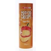 Spar potato crisps paprika voorkant