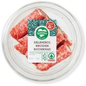 Spar salami rolletje met kruidenkaas voorkant