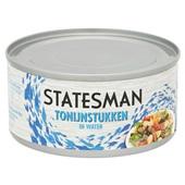 Statesman tonijnstukken in water achterkant