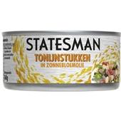 Statesman tonijnstukken in zonnebloemolie voorkant