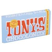 Tony's chocolonely chocoladereep donkere melk 42% achterkant