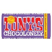 Tony's chocolonely chocoladereep kaneel biscuit melk voorkant