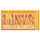 Tony's chocolonely chocoladereep melk karamel Zout voorkant