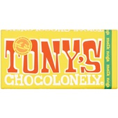 Tony's chocolonely chocoladereep melk noga voorkant