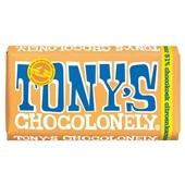 Tony's chocolonely chocoladereep puur citroen karamel voorkant