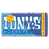 Tony's chocolonely chocoladereep wit bes wafel voorkant