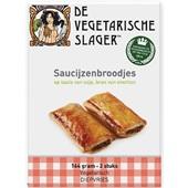 Vegetarische slager saucijzenbroodjes vegetarisch voorkant