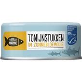 Vis Mari tonijnstukken in zonnebloemolie  voorkant