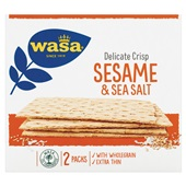 Wasa Delicate Crisp sesame & seasalt voorkant
