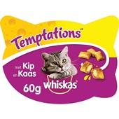 Whiskas Kattensnack Temptations Met Kip En Kaas voorkant