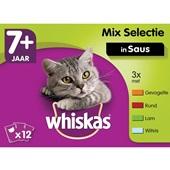 Whiskas kattenvoer senior mix in saus  voorkant